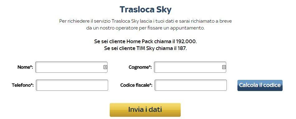 da sito sky chiama fastweb
