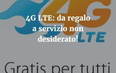 Opzione 4G LTE della Tre: da regalo a servizio a pagamento