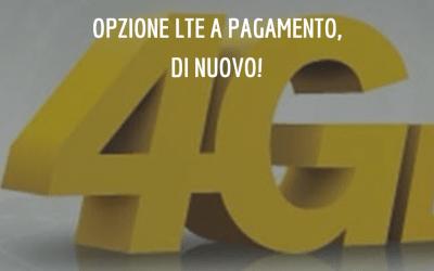 Opzione 4G LTE della tre: a pagamento, di nuovo